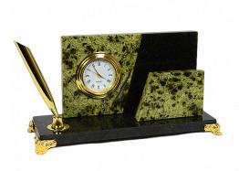 Часы с визитницей