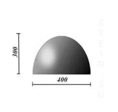 Бетонная полусфера d400хh300 мм (парковочный ограничитель)