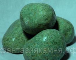 Жадеит шлифованный (Хакасия), отборный для бани и сауны