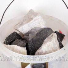 Экомикс Дуэт для бани (долерит, кварц) 20 кг