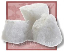 Камни для бани Кварц белый колотый 15кг.