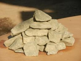 Базальт колотый для бани и сауны (мешок 10 кг)