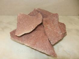 Малиновый кварцит для бани, 20 кг