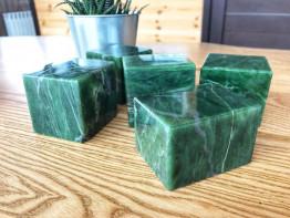 Нефрит «Кубики» полированный для бани и сауны