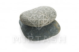 """Природный натуральный ландшафтный камень речной """"Серый"""""""