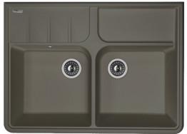 Мойка кухонная Florentina накладная, литой мрамор, Вилладжио Антрацит