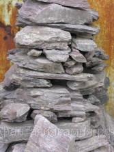 Камень - сланец кварцованный 200-300 кг (Сиреневый)