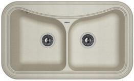 Мойка кухонная Florentina накладная, литой мрамор, КРИТ-860 Грей