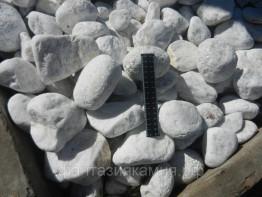 Мрамор галтованный форма произвольная, размер 50-250 мм