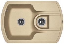 Мойка кухонная Florentina накладная, литой мрамор, НИРЕ-760К Бежевый