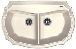 Мойка кухонная Florentina накладная, литой мрамор, Эмилия 870 Жасмин