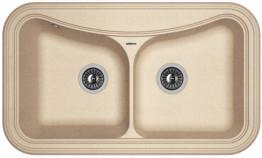 Мойка кухонная Florentina накладная, литой мрамор, КРИТ-860 Песочный