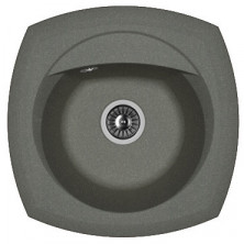 Мойка кухонная Florentina накладная, литой мрамор, КОРСИКА Черный