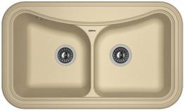 Мойка кухонная Florentina накладная, литой мрамор, КРИТ-860 Капучино
