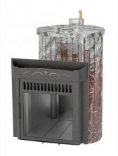 Печь для бани Ферингер (ПС) Оптима в облицовке Жадеит + Россо Леванто