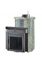 Печь для бани Ферингер (ПС) Оптима в облицовке Жадеит перенесенный рисунок