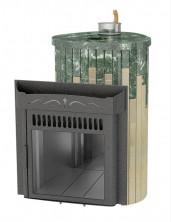Печь для бани Ферингер (ПС) Оптима в облицовке Змеевик + Сильвия Оро