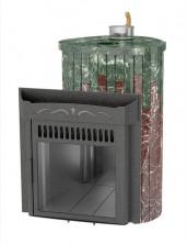 Печь для бани Ферингер (ПС) Оптима в облицовке Змеевик + Россо Леванте