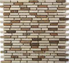 Мозаика каменная Bonaparte (Бонапарт) Barcelona I 305x305х7 мм. Бежевый