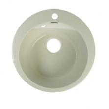 Мойка кухонная из камня MARRBAXX Виктори Z30Q15, d475мм, глянцевая, белый гранит