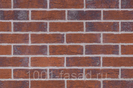Клинкерная фасадная плитка King Klinker Польша Клинкерная фасадная плитка Red hot (HF33)