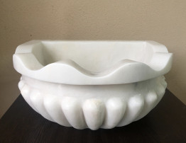 Курна мраморная белая для турецкой бани