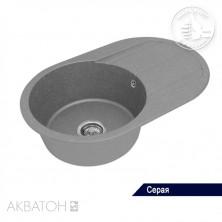 "Мойка кухонная ""АМИРА"" с крылом, серый шелк, 1A712932AI250"