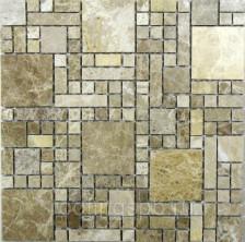 Мозаика каменная Bonaparte (Бонапарт) Tetris 30,5x30,5. Бежевый