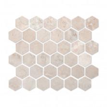 Мозаика из натурального камня Caramelle Cappuccino beige HEXAGONE MAT 48x48x7