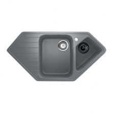 Мойка кухонная Ulgran U409-309, 970х500 мм, цвет темно-серый
