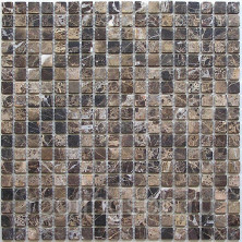 Мозаика из натурального камня Bonaparte (Бонапарт) Ferato-15 Slim POL Сетка 305x305мм Чип 15х15х4 Полированная