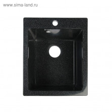 Мойка кухонная из камня MARRBAXX Линди Z8Q4, 425х500х195 мм, глянцевая, черная