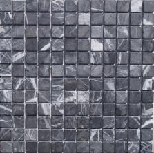 Мозаика из натурального камня Caramelle Nero marquina MAT 23x23x7 (19), шт
