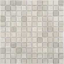 Мозаика из натурального камня Caramelle Travertino Silver MAT 23x23x4, шт.