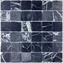 Мозаика из натурального камня Caramelle Nero marquina MAT 48x48x7 (86), шт