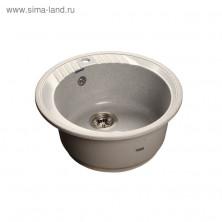 Мойка кухонная из камня Granfest R520, d=520 мм, цвет серый