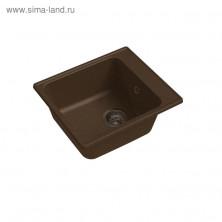 Мойка кухонная из камня Granfest ECO-17, 420х480 мм, цвет терракотовый