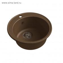 Мойка кухонная из камня Granfest ECO-08, d=480 мм, цвет терракотовый