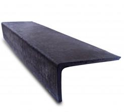 Плитка для крыльца совмещенная проступь и подступенок «Состаренный габбро» 1500*380*190мм, красный