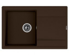 Мойка кухонная Florentina накладная, литой мрамор, ЛИПСИ-780 Мокко