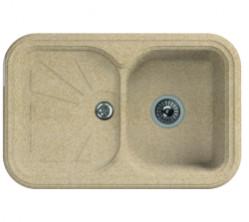 Мойка кухонная Florentina накладная, литой мрамор, КРИТ-780 Песочный