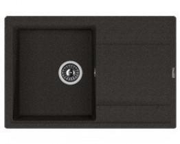 Мойка кухонная Florentina накладная, литой мрамор, ЛИПСИ-780 Черный