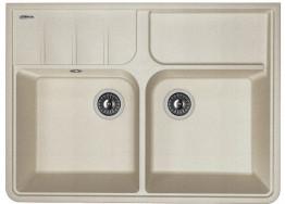 Мойка кухонная Florentina накладная, литой мрамор, Вилладжио