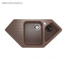 Мойка кухонная Ulgran U409-307, 970х500 мм, цвет терракотовый