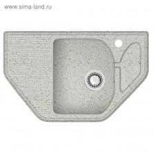 Мойка кухонная из камня ZETT lab. 22/Q10, 800x500x175 мм, матовая, врезная, светло-серая