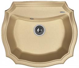 Мойка кухонная Florentina накладная, литой мрамор, Эмилия 640