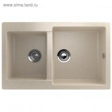 Мойка кухонная Ulgran U505-328, 770х500 мм, цвет бежевый