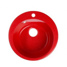 Мойка кухонная из камня MARRBAXX Виктори Z30Q17, d475 мм, глуб. 18 см, глянцевая, красная