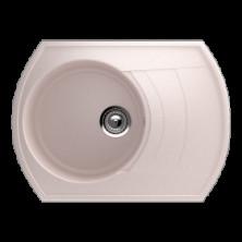 Каменная мойка Улгран U-206 Светло-розовый