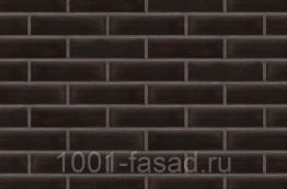Клинкерная фасадная плитка King Klinker Польша Глазурованная клинкерная плитка для фасада Onyx black (17) Ониксовый черный